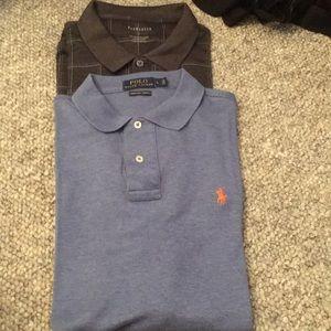 2 new size L cotton washable polo shirts